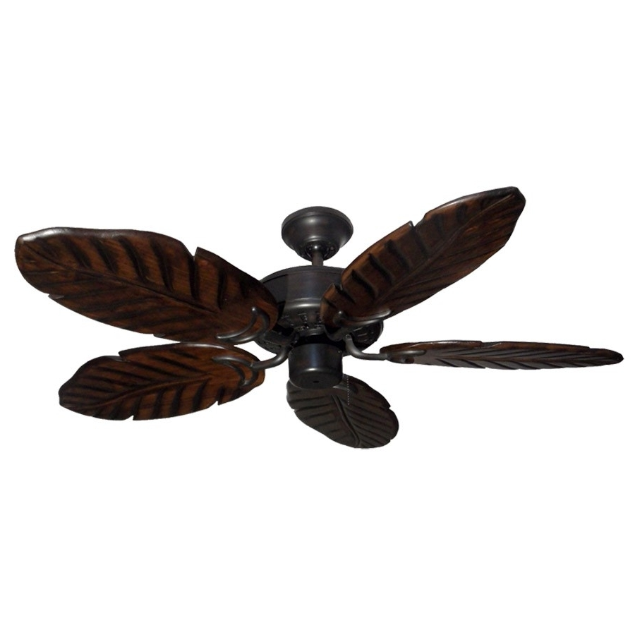 "42"" Outdoor Tropical Ceiling Fan Oil Rubbed Bronze Finish – Treated For Most Current Outdoor Ceiling Fans With Leaf Blades (View 5 of 20)"