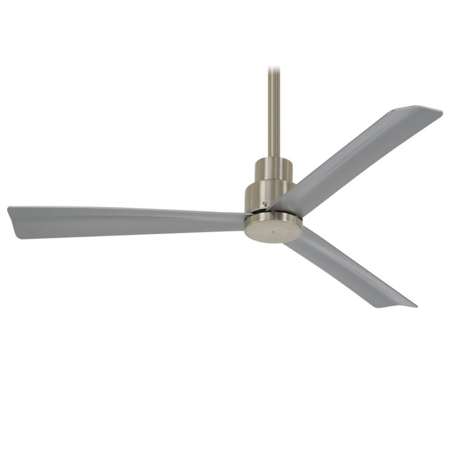 44 Inch Outdoor Ceiling Fans With Lights Within Well Known Minka Aire F786 Bnw Simple Led Light 44 Inch Outdoor Ceiling Fan In (Gallery 17 of 20)