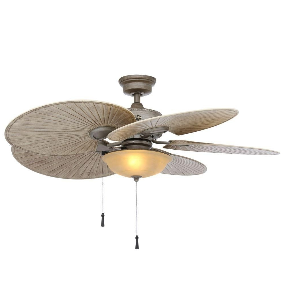 48 Outdoor Ceiling Fans With Light Kit Regarding Famous Hampton Bay Havana 48 In. Outdoor Cambridge Silver Ceiling Fan (Gallery 7 of 20)