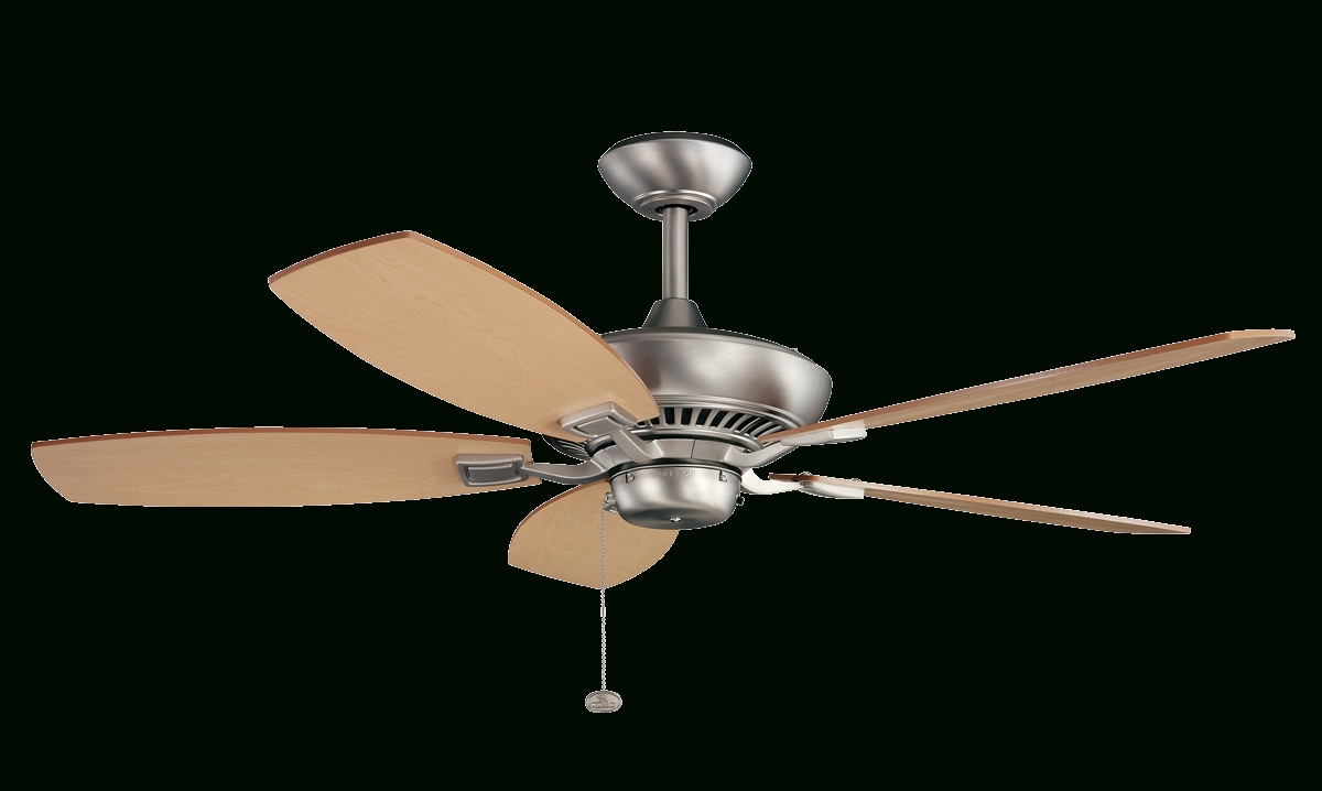 "52"" Canfield Ceiling Fan With Brushed Nickel Finish Within Popular Outdoor Ceiling Fan With Bluetooth Speaker (View 3 of 20)"