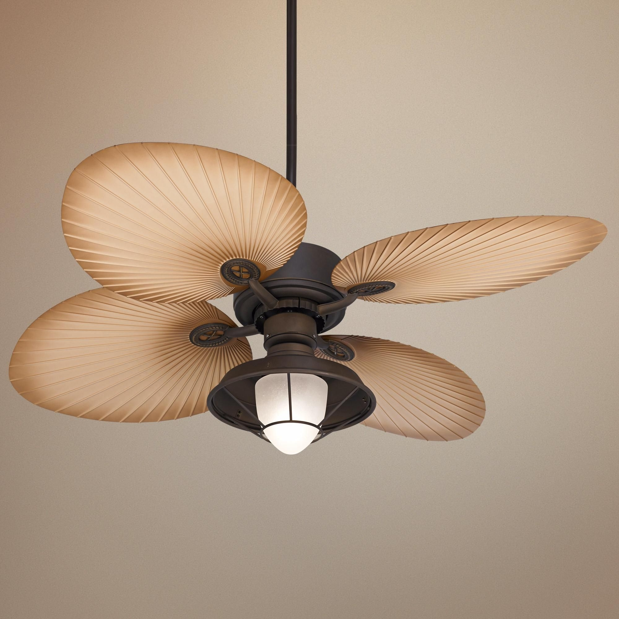 "52"" Casa Vieja Aerostat Wide Palm Bronze Outdoor Ceiling Fan Pertaining To Most Recently Released Casa Vieja Outdoor Ceiling Fans (View 3 of 20)"