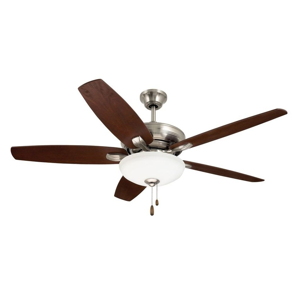 52 Inch Modern Ceiling Fan With Removable Light In Steel (View 2 of 20)