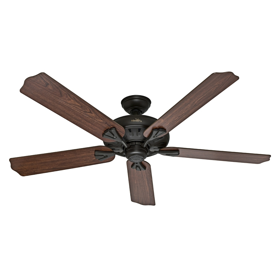 60 Inch Outdoor Ceiling Fans With Lights Inside Fashionable Shop Hunter The Royal Oak 60 In New Bronze Indoor Ceiling Fan And (View 19 of 20)