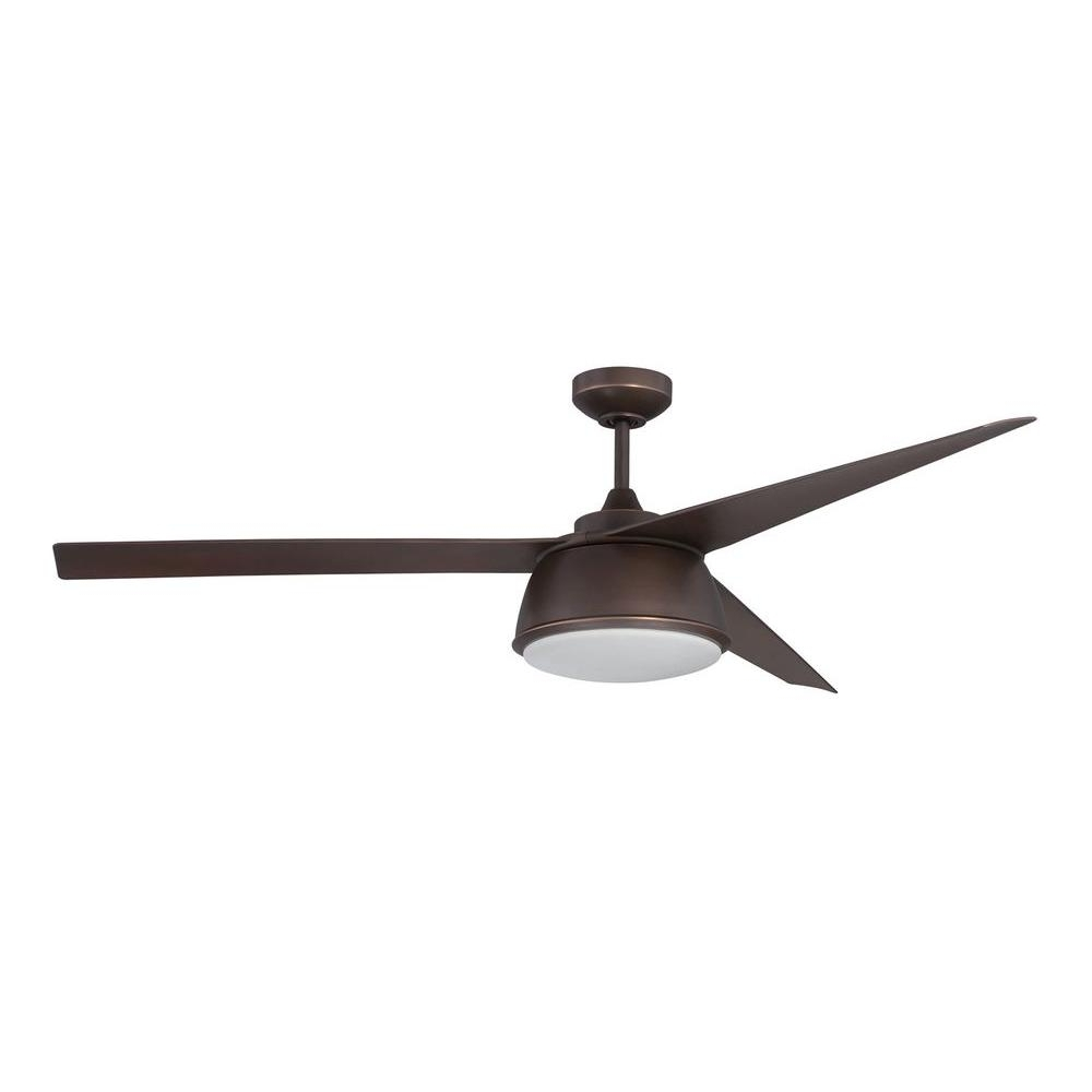 60 Inch Outdoor Ceiling Fans With Lights Within Famous Hunter Carmen 34 In. Indoor New Bronze Ceiling Fan With Light 51004 (Gallery 20 of 20)