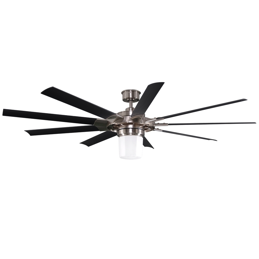 72 Inch Outdoor Ceiling Fans With Light With Famous Shop Harbor Breeze Slinger 72 In Brushed Nickel Downrod Mount Indoor (Gallery 13 of 20)
