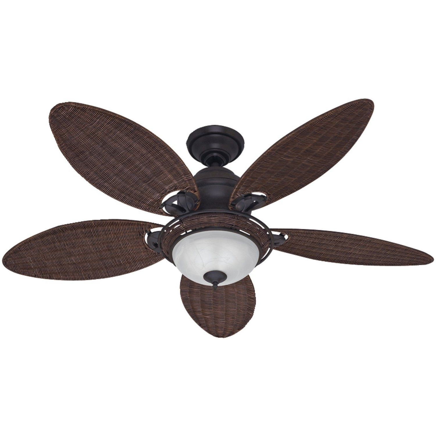 Amazon: Hunter Fan Company 54095 Caribbean Breeze 54 Inch Inside Recent Wicker Outdoor Ceiling Fans With Lights (Gallery 7 of 20)