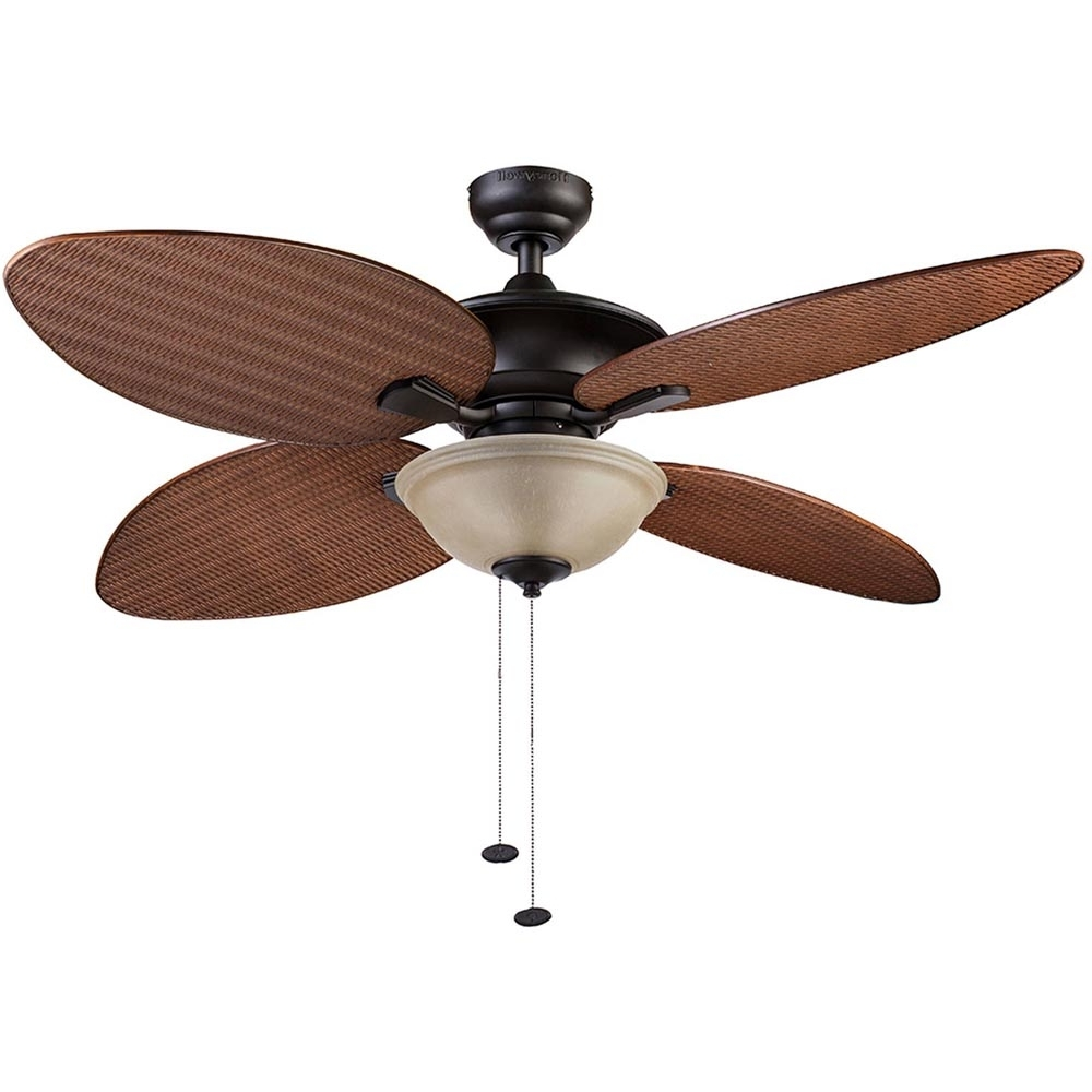 Amazon Outdoor Ceiling Fans With Lights Pertaining To Well Known Honeywell Sunset Key Outdoor & Indoor Ceiling Fan, Bronze, 52 Inch (View 5 of 20)