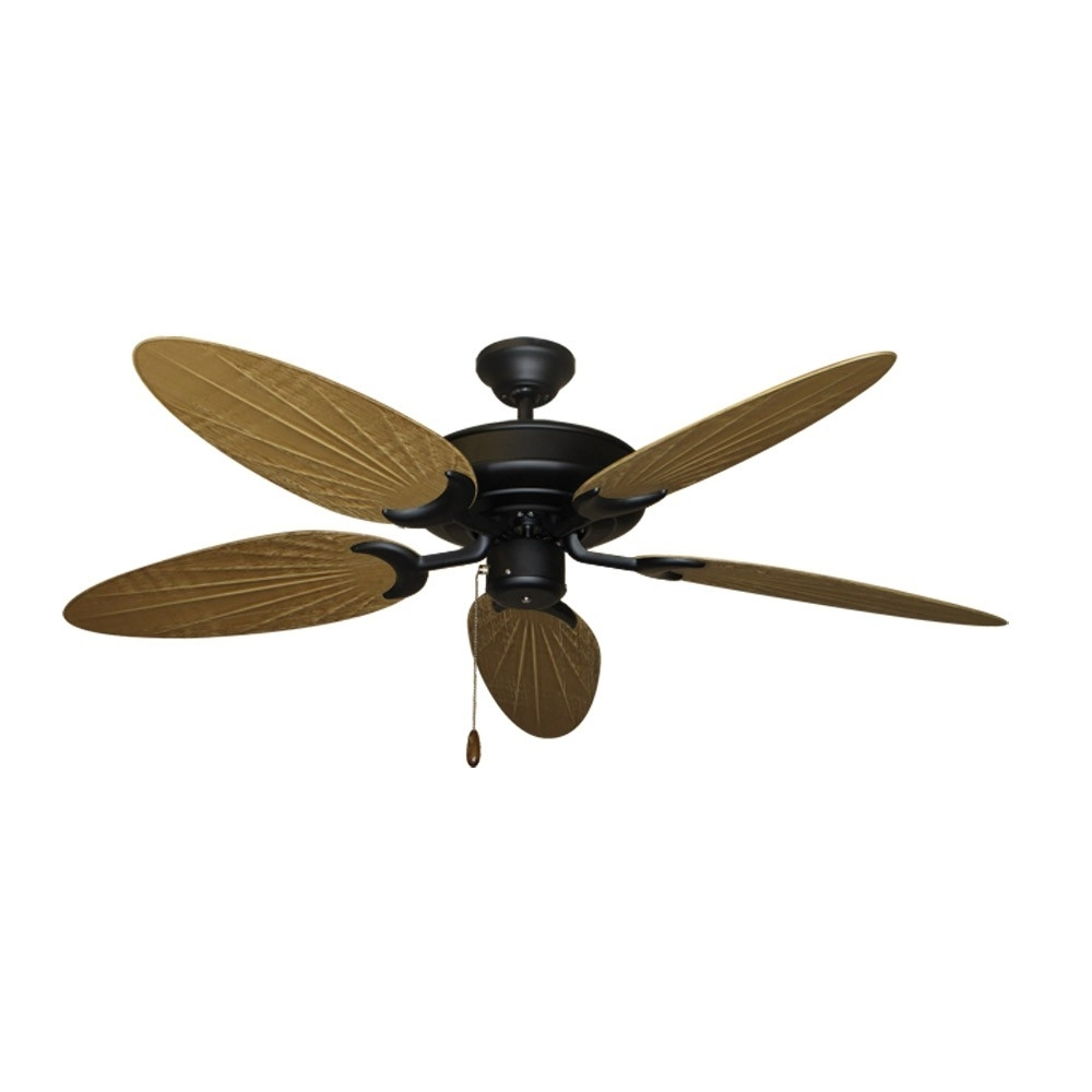 Bamboo Outdoor Ceiling Fans With Well Known Bamboo Ceiling Fan – Oil Rubbed Bronze – Customize With 12 Blade (View 4 of 20)