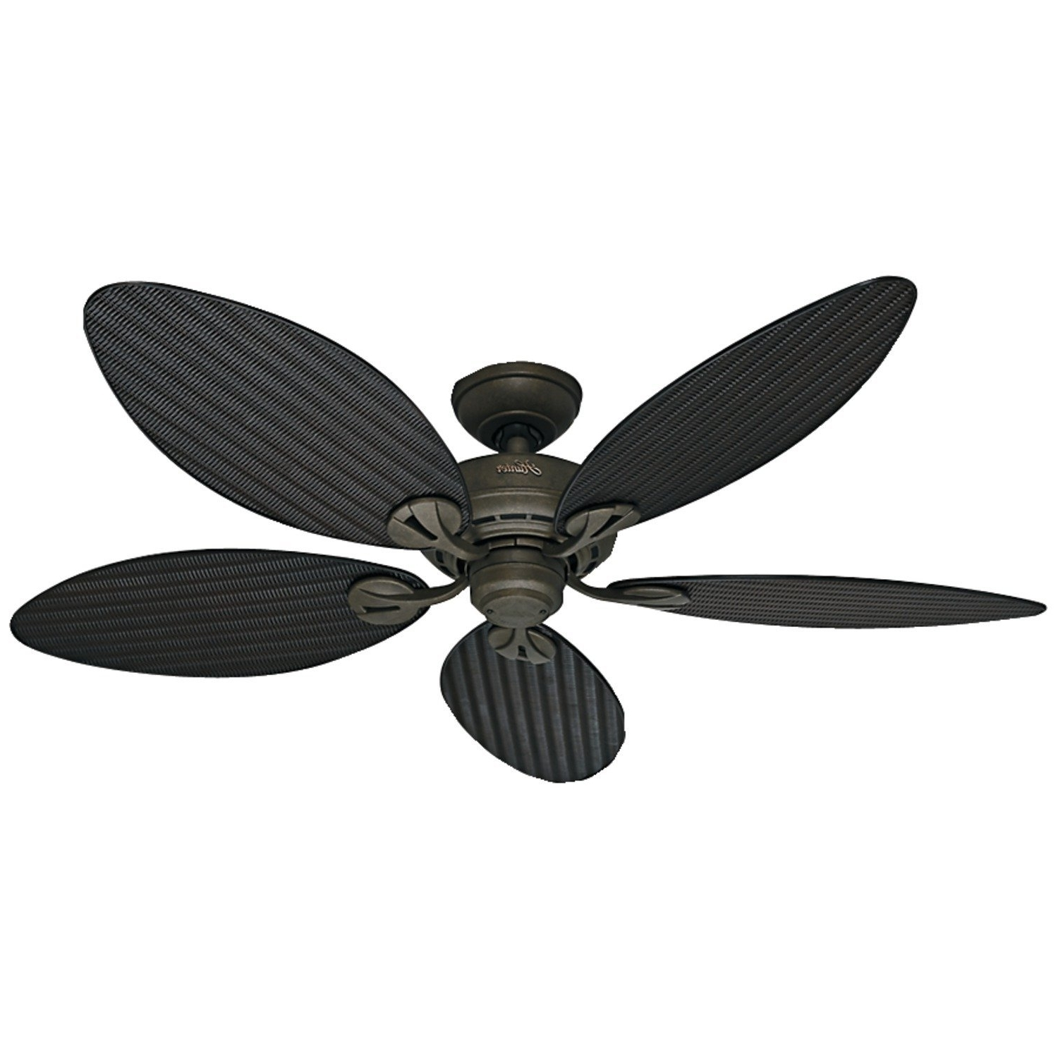 Bamboo Outdoor Ceiling Fans Within Widely Used Ceiling: Marvellous Ceiling Fans With Leaf Shaped Blades Wicker (View 5 of 20)