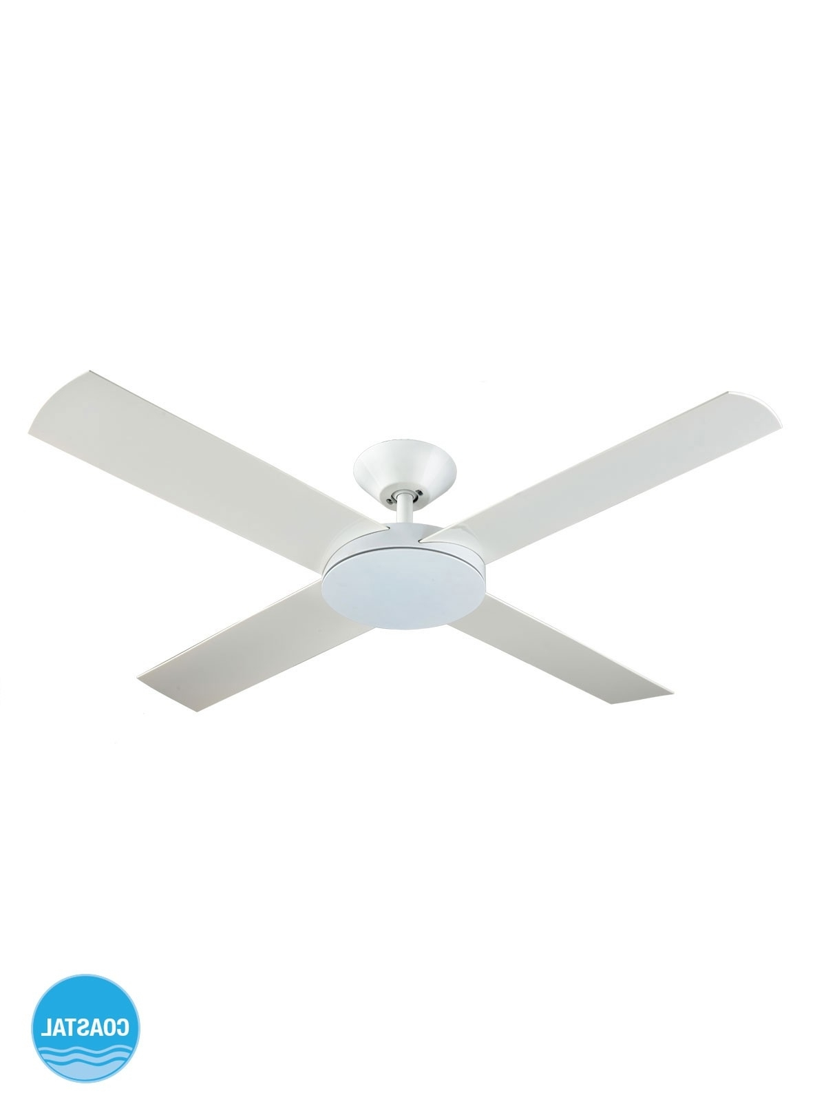 Best And Newest Aero 132Cm Fan Only In White With Regard To Outdoor Ceiling Fan With Light Under $ (View 2 of 20)