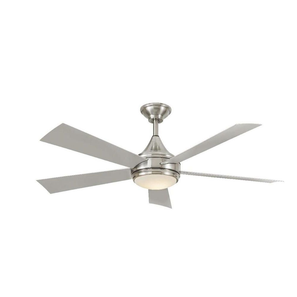 Best And Newest Brushed Nickel Outdoor Ceiling Fans With Home Decorators Collection Hanlon 52 In (View 2 of 20)