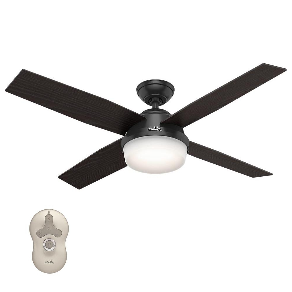 Best And Newest Hunter Dempsey 52 In. Led Indoor/outdoor Fresh White Ceiling Fan Inside Outdoor Ceiling Fan With Light Under $100 (Gallery 11 of 20)