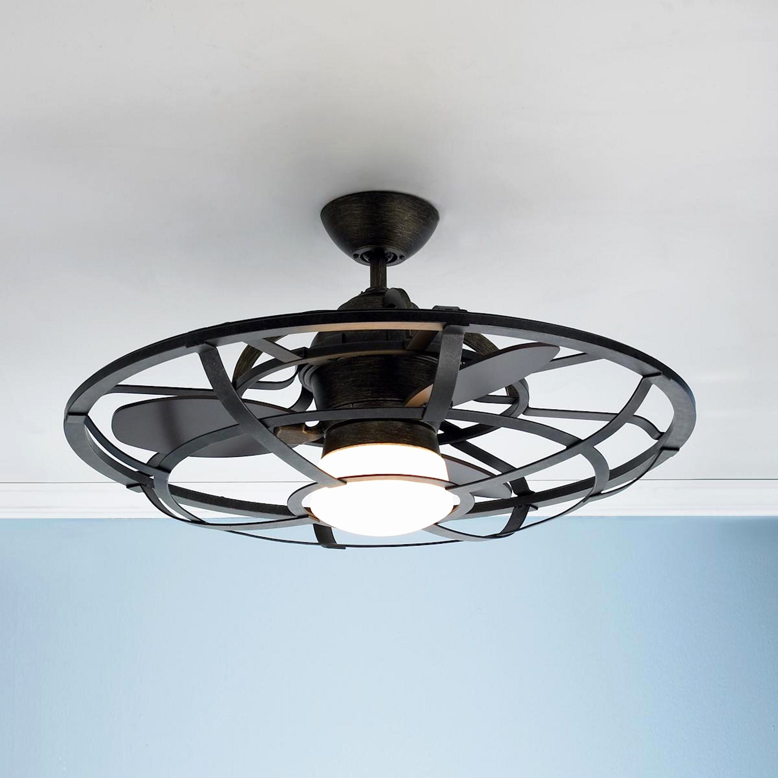 Best And Newest Industrial Looking Ceiling Fans Lovely Dark Aged Bronze Outdoor Inside Outdoor Ceiling Fans With Lantern (Gallery 14 of 20)