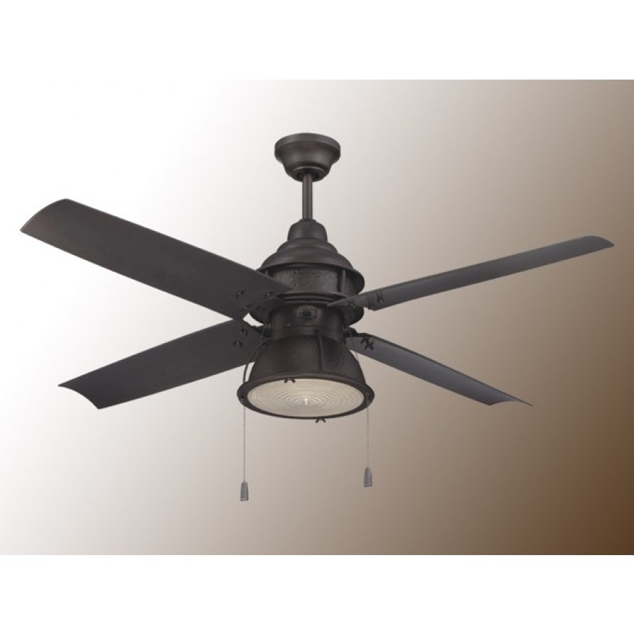 Best And Newest Outdoor Ceiling Fans With Pull Chains With Craftmade Port Arbor Ceiling Fan – 3 Finish Choices – Par52Ri (View 2 of 20)