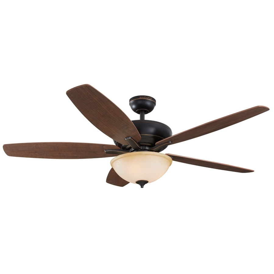Best And Newest Shop Harbor Breeze Aberly Cove 60 In Bronze Indoor Ceiling Fan With For 60 Inch Outdoor Ceiling Fans With Lights (View 14 of 20)