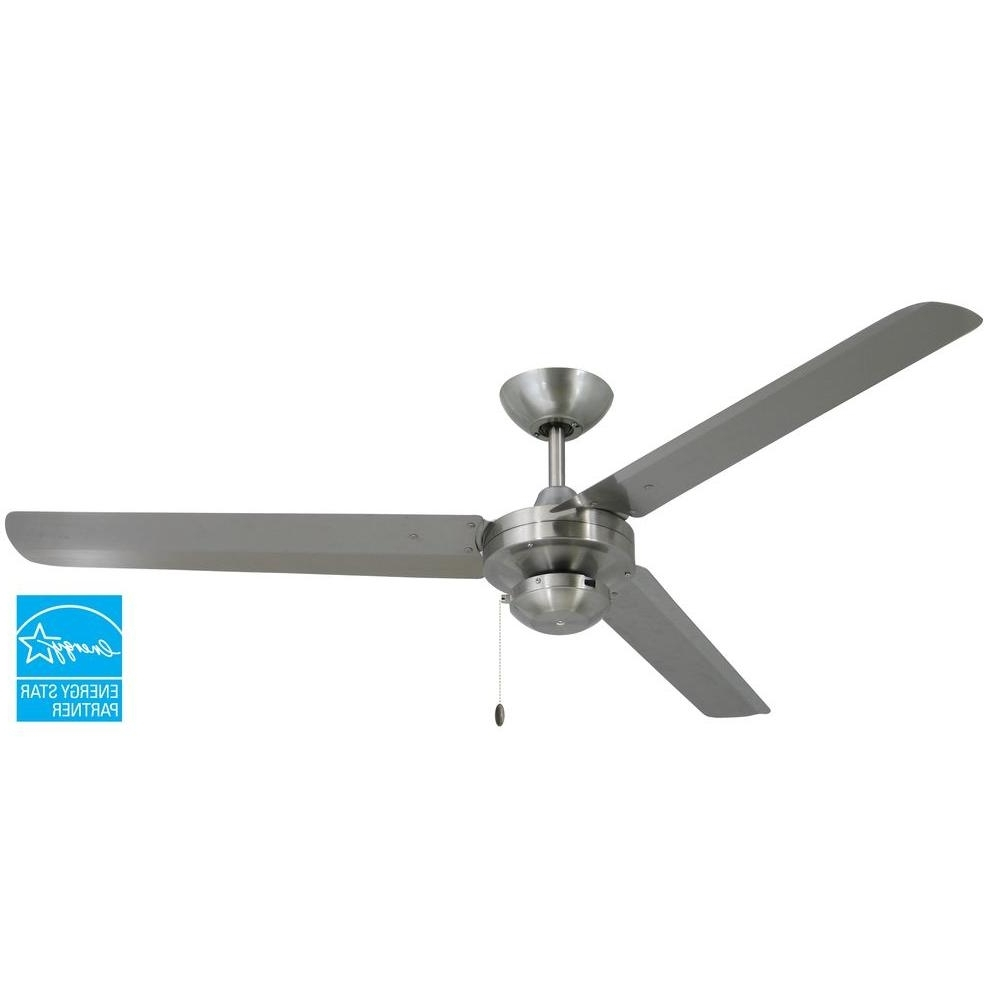 Best And Newest Troposair Tornado 56 In. Stainless Steel Indoor/outdoor Ceiling Fan With Metal Outdoor Ceiling Fans With Light (Gallery 11 of 20)