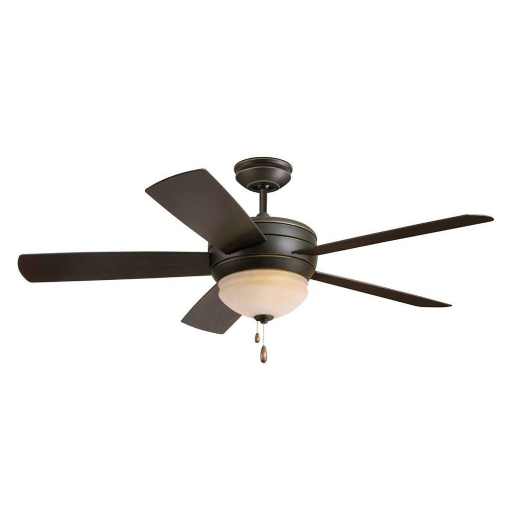 Black Indoor/outdoor Ceiling Fan With Light (Gallery 2 of 20)