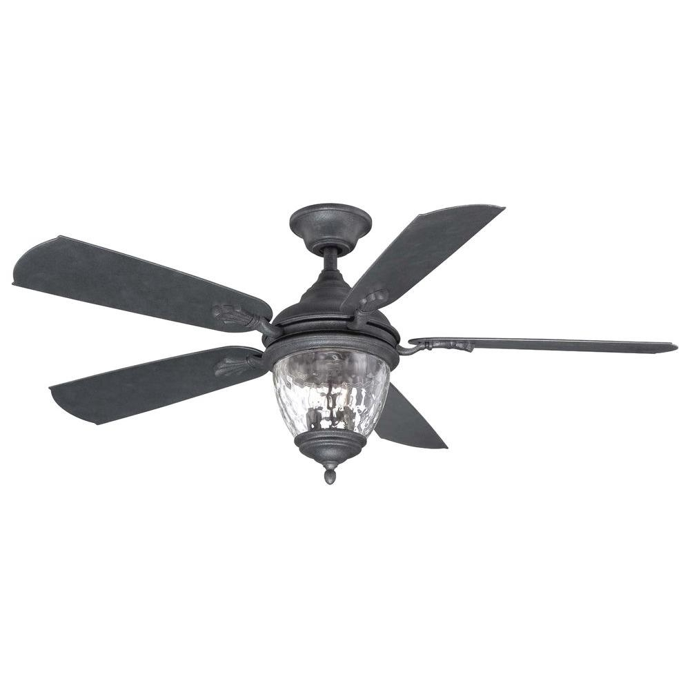 Black Outdoor Ceiling Fans For Favorite Cool Black Outdoor Ceiling Fan Fans Pixball Com Home Decorators (Gallery 14 of 20)