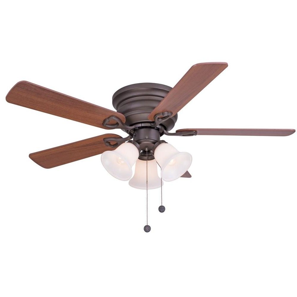Brown Outdoor Ceiling Fan With Light For Newest Clarkston 44 In (View 2 of 20)