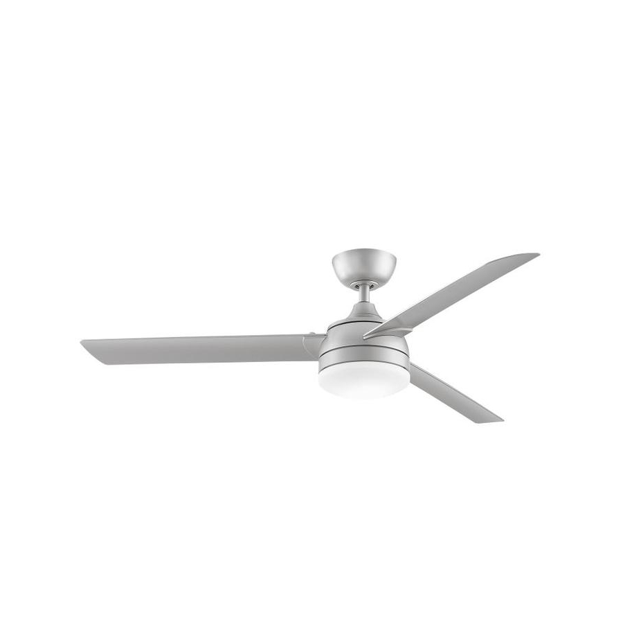 Brushed Nickel Outdoor Ceiling Fans With Light Intended For Famous Shop Fanimation Xeno Wet 56 In Brushed Nickel Led Indoor/outdoor (View 3 of 20)