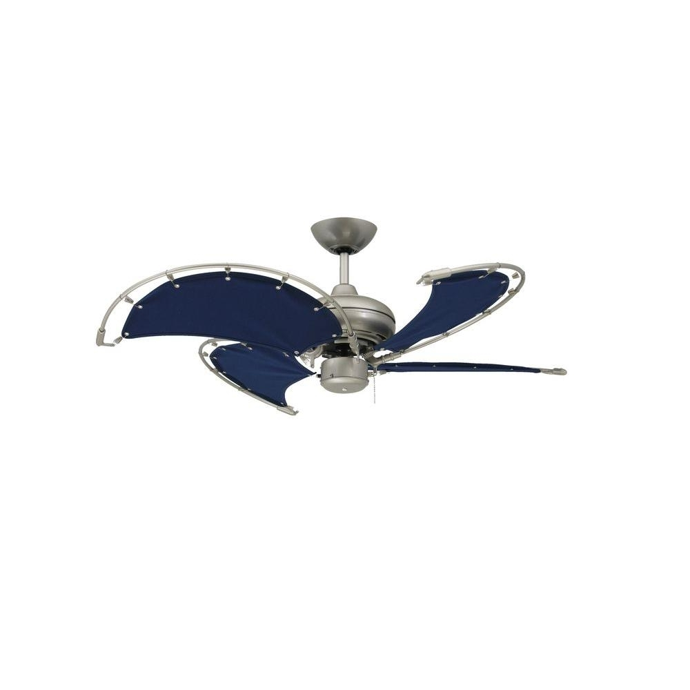 Brushed Nickel Outdoor Ceiling Fans With Light With Fashionable Troposair Voyage 40 In (View 11 of 20)