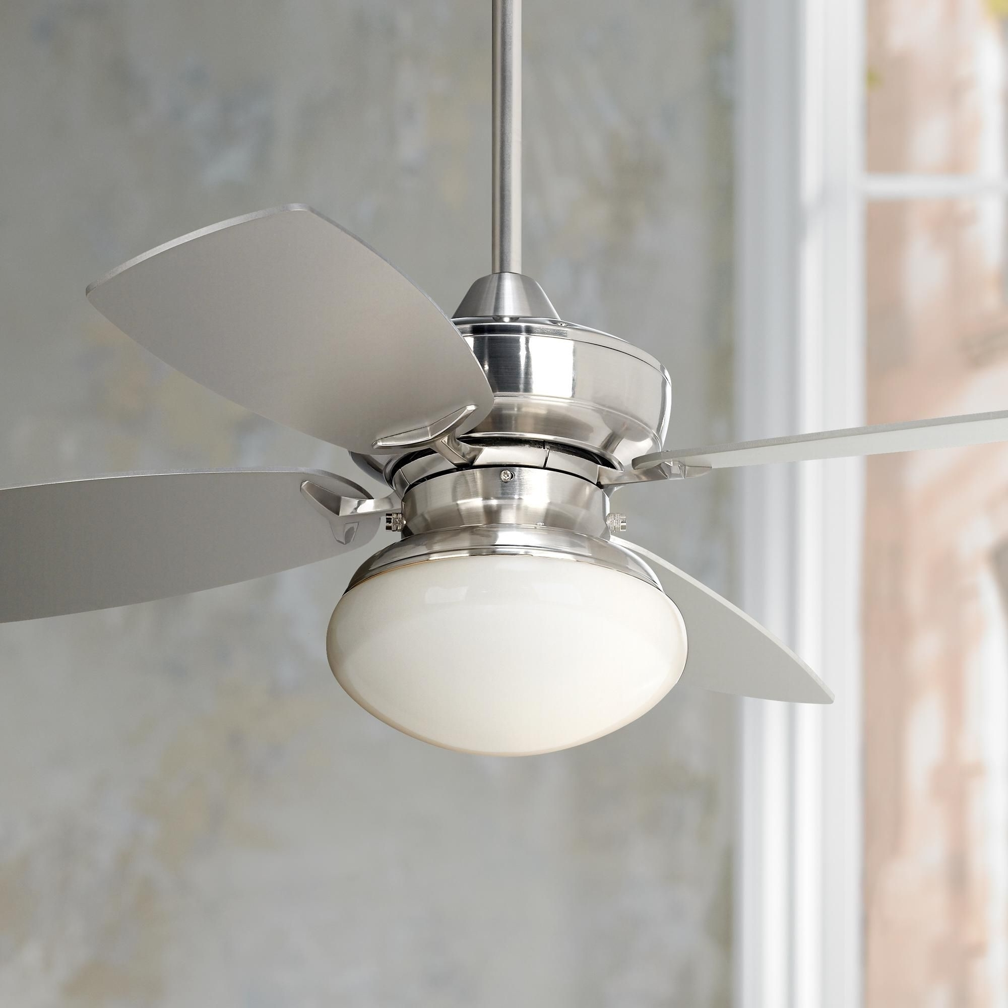 "Casa Vieja Outdoor Ceiling Fans With Regard To Recent 36"" Casa Vieja Outlook Brushed Nickel Ceiling Fan (View 10 of 20)"