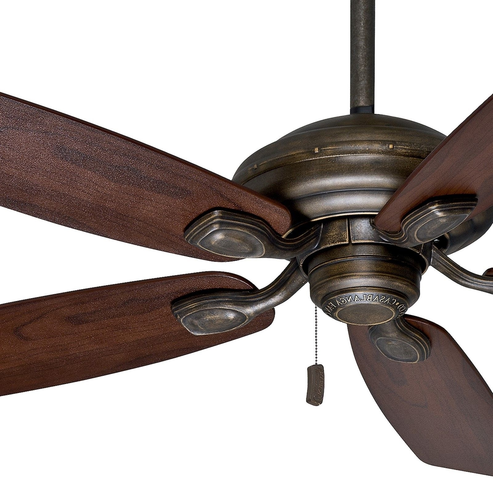 "Casablanca 52"" Aged Bronze Damp Rated Outdoor Ceiling Fan For Inside Newest Damp Rated Outdoor Ceiling Fans (Gallery 13 of 20)"