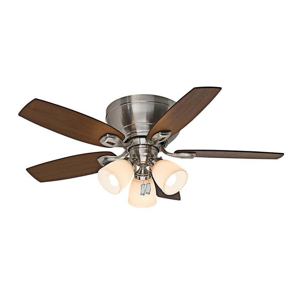 Casablanca Durant 44 In. Indoor Brushed Nickel Ceiling Fan With For Recent 44 Inch Outdoor Ceiling Fans With Lights (Gallery 10 of 20)