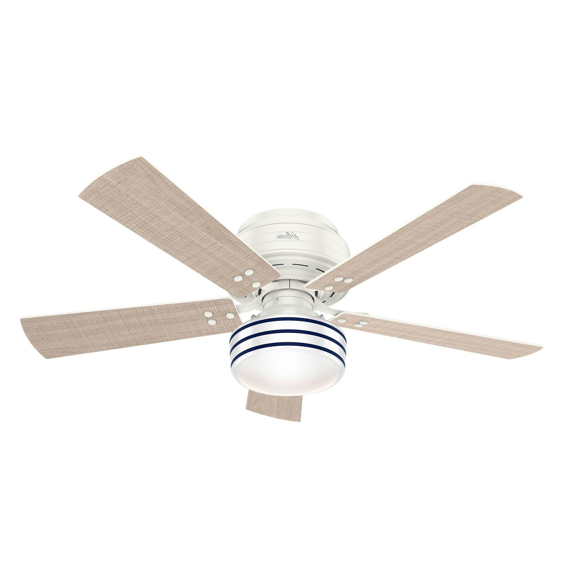 Cedar Key Low Profile Indoor/outdoor Ceiling Fan With Light Inside Newest Low Profile Outdoor Ceiling Fans With Lights (Gallery 18 of 20)
