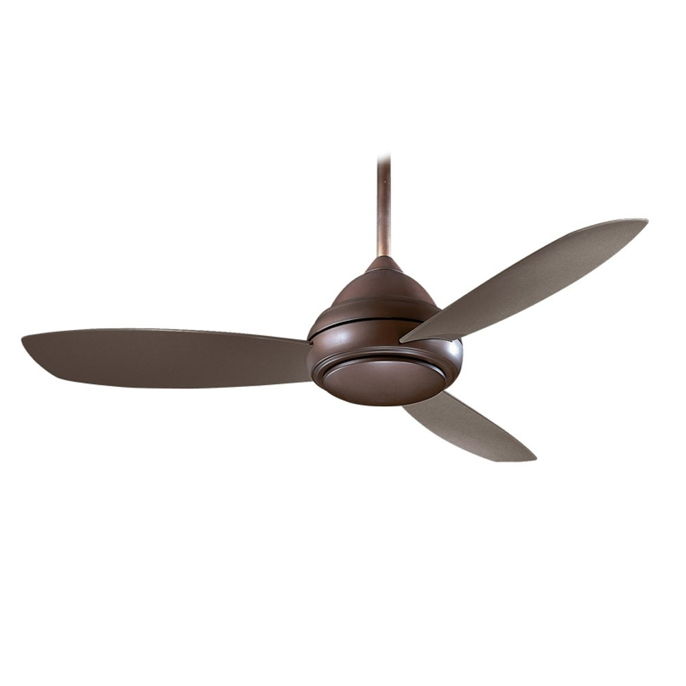 Ceiling: Awesome Rustic Outdoor Ceiling Fans Rustic Ceiling Fans Intended For Popular Brown Outdoor Ceiling Fan With Light (View 18 of 20)