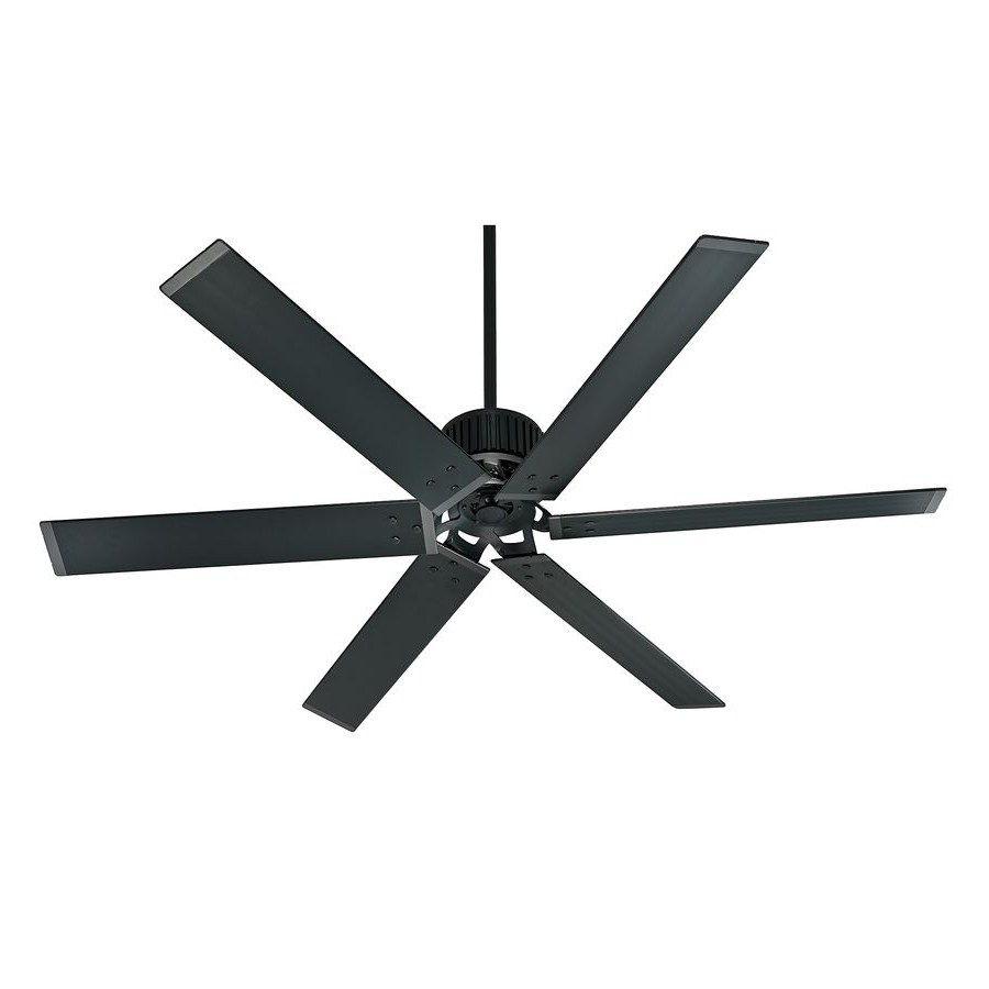 Commercial Outdoor Ceiling Fans Regarding Widely Used Shop Hunter Industrial 72 In Matte Black Outdoor Downrod Mount (View 16 of 20)
