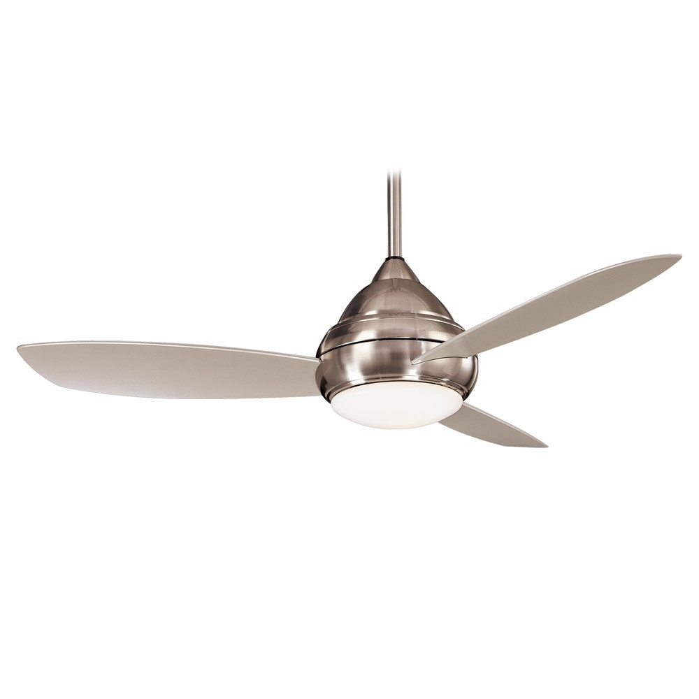 Concept I Wet Outdoor Ceiling Fanminka Aire Fans – F476l Bnw Regarding Trendy Minka Outdoor Ceiling Fans With Lights (View 3 of 20)