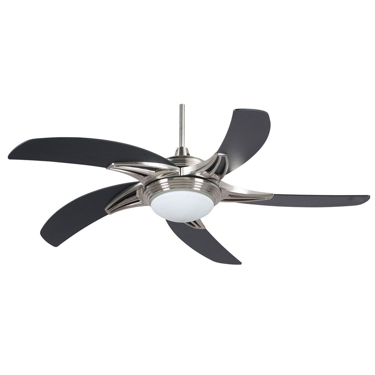 "Concord Fans 52"" Stargate Modern Stainless Steel Ceiling Fan With Inside Current Stainless Steel Outdoor Ceiling Fans With Light (View 4 of 20)"