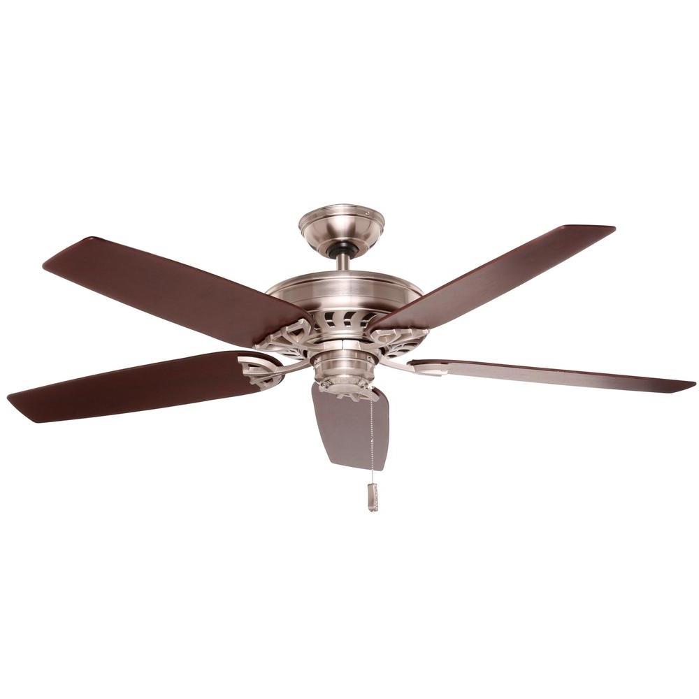 Copper Outdoor Ceiling Fans Regarding Most Recently Released Hampton Bay Metro 54 In Rustic Copper Indoor/outdoor Ceiling Fan (Gallery 13 of 20)
