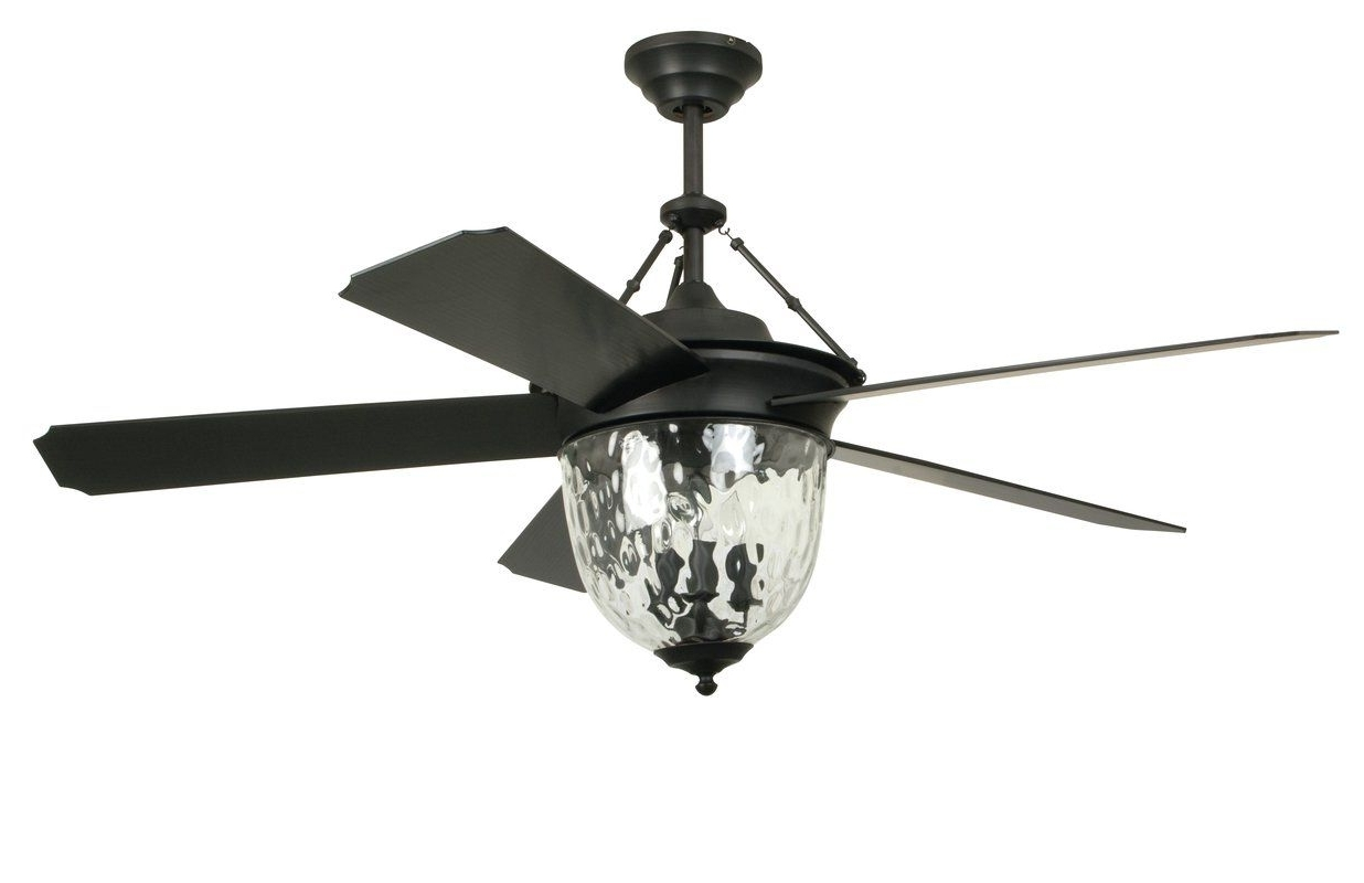 "Craftmade 52"" Cavalier 5 Blade Ceiling Fan With Wall Remote Inside Preferred Wayfair Outdoor Ceiling Fans With Lights (Gallery 10 of 20)"