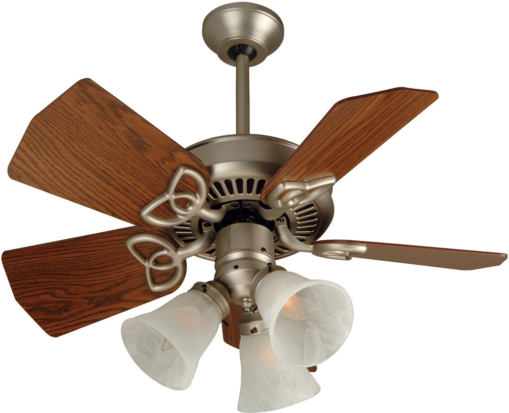 Craftmade K10439 Piccolo Brushed Satin Nickel Indoor / Outdoor 30 With Current Craftmade Outdoor Ceiling Fans Craftmade (Gallery 16 of 20)
