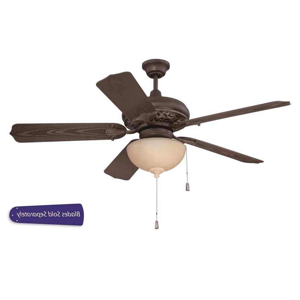 "Craftmade Outdoor Ceiling Fans Craftmade With Regard To Most Current Omi52Agvm – Craftmade Omi52Agvm Outdoor Mia 52"" Ceiling Fan W/light (Gallery 1 of 20)"