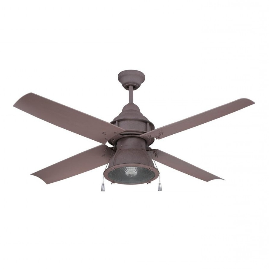 Craftmade Par52Ri4 Port Arbor 1 Led Light 52 Inch Outdoor Ceiling With Newest Rustic Outdoor Ceiling Fans (View 15 of 20)