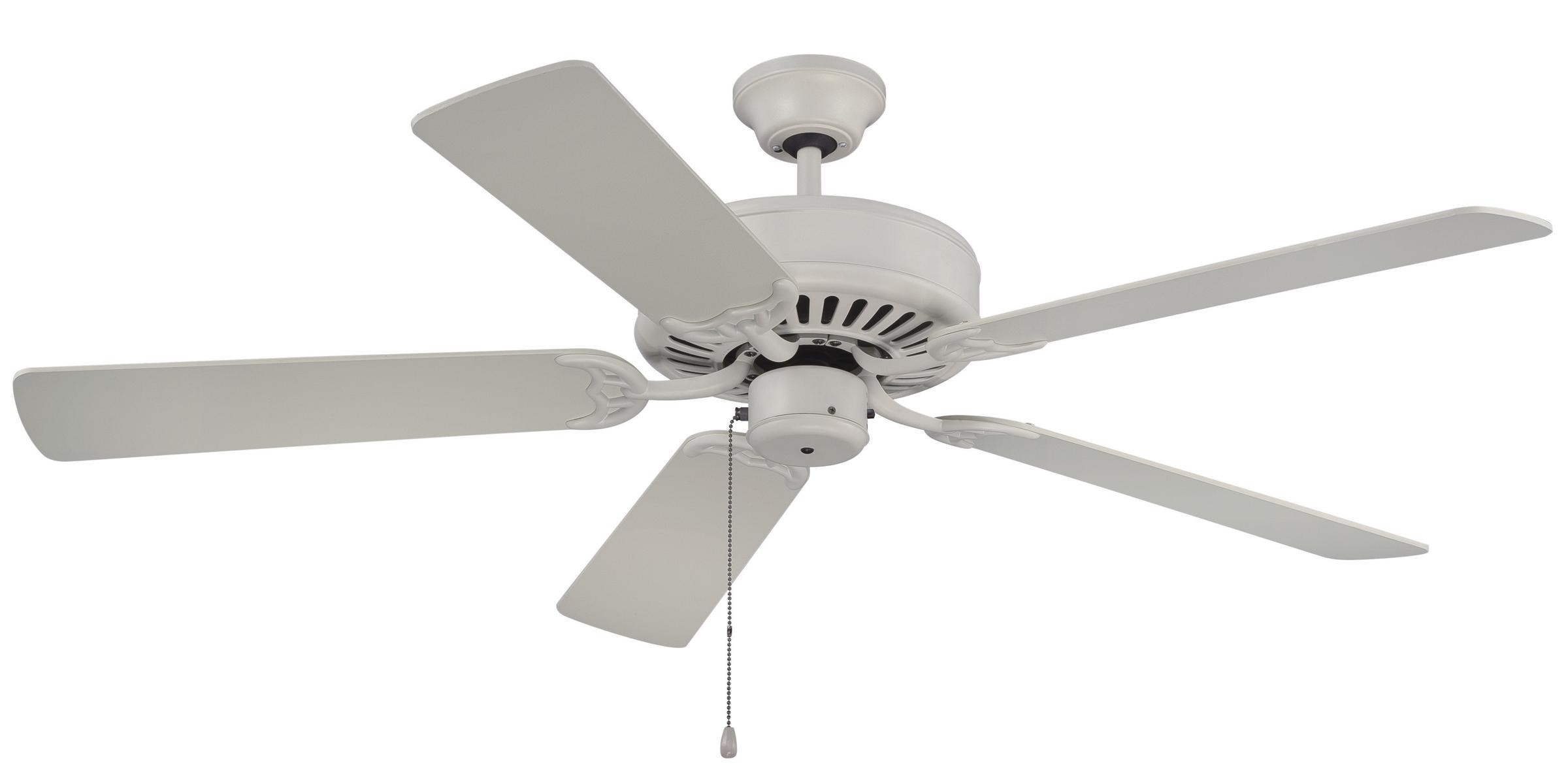 Craftmade Pro Builder Ceiling Fan Model C52Aw In Antique White With Regard To Most Popular Craftmade Outdoor Ceiling Fans Craftmade (View 11 of 20)
