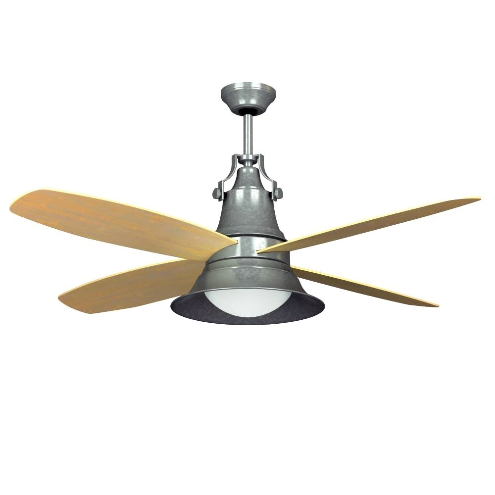 "Craftmade Union 52"" Ceiling Fan Galvanized Steel Un52Gv – Wet Rated For 2018 Outdoor Ceiling Fans With Galvanized Blades (View 3 of 20)"