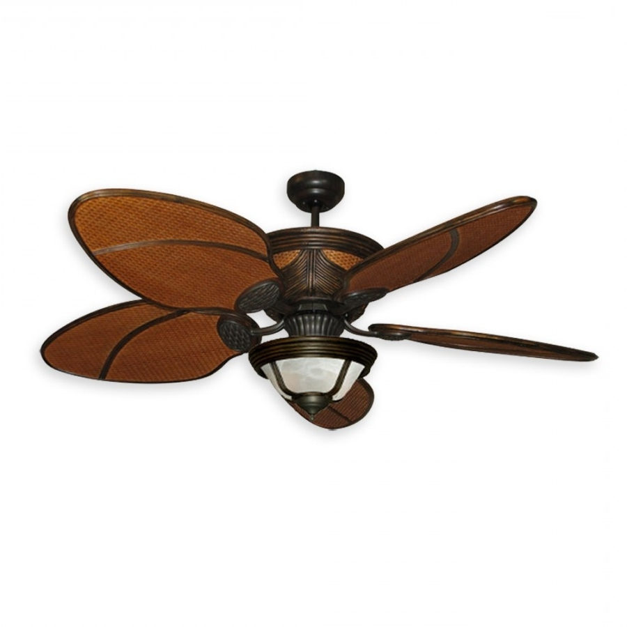 Craftsman Outdoor Ceiling Fans With Regard To Current Moroccan Rattan Ceiling Fan (View 14 of 20)