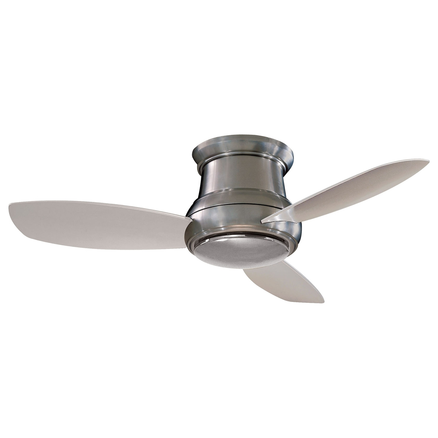 Current 44 Inch Outdoor Ceiling Fans With Lights Inside Minka Aire Concept Ii Brushed Nickel 44 Inch Flush Led Ceiling Fan (Gallery 5 of 20)