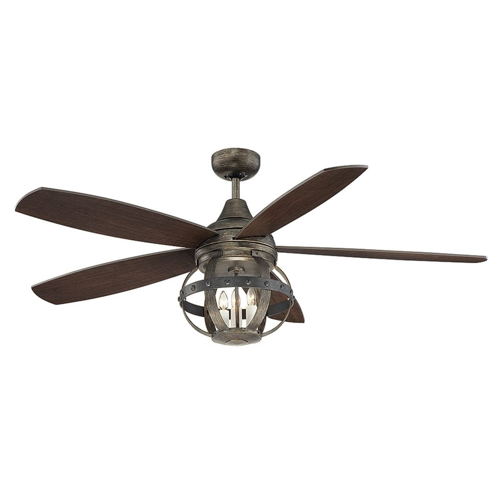 Current Inch Hunter Outdoor Ceiling Fan 60 Inch Ceiling Fan With Light On Throughout 60 Inch Outdoor Ceiling Fans With Lights (Gallery 2 of 20)