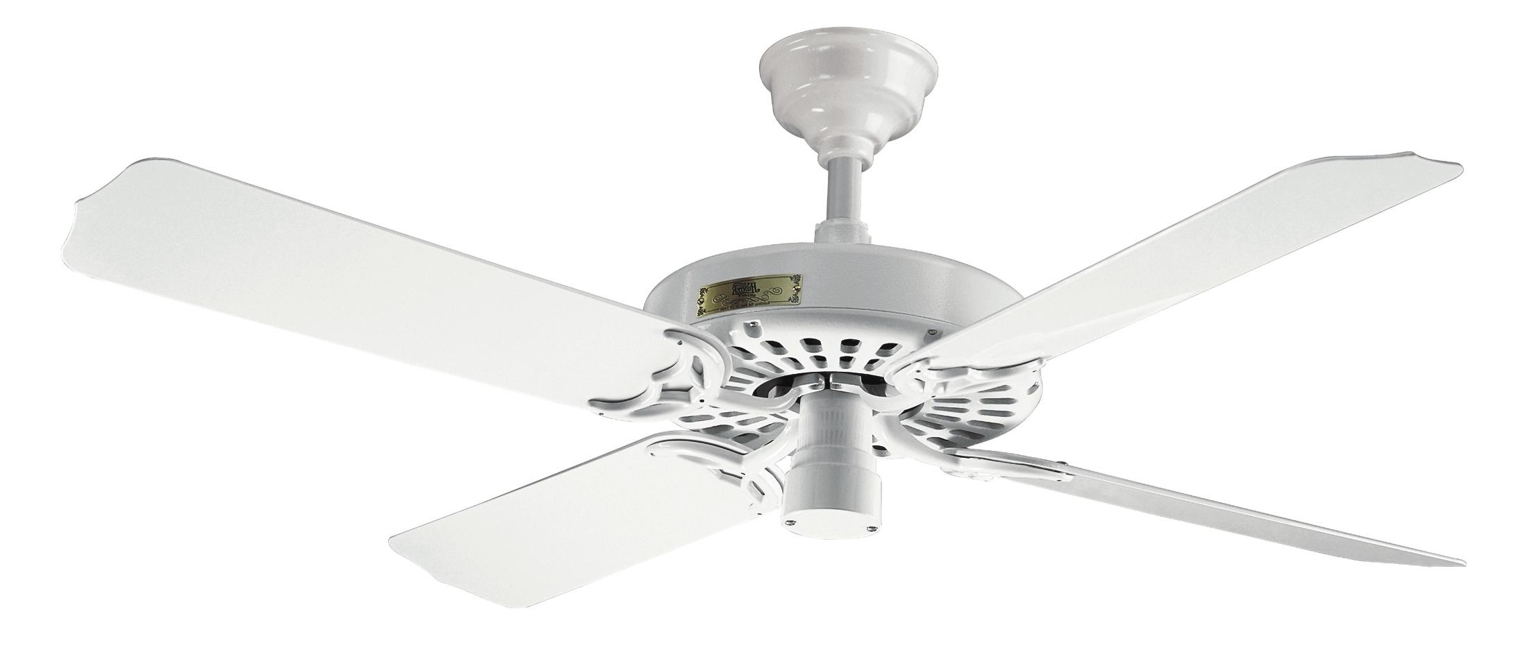 Current Outdoor Ceiling Fans By Hunter With Hunter Outdoor Original White Ceiling Fan 25602 In White, Best (View 4 of 20)