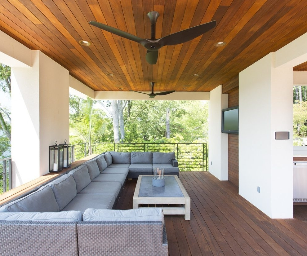 Current Outdoor Ceiling Fans For Patios For Outdoor Patio Ceiling Fans Patio Contemporary With Patio (Gallery 5 of 20)