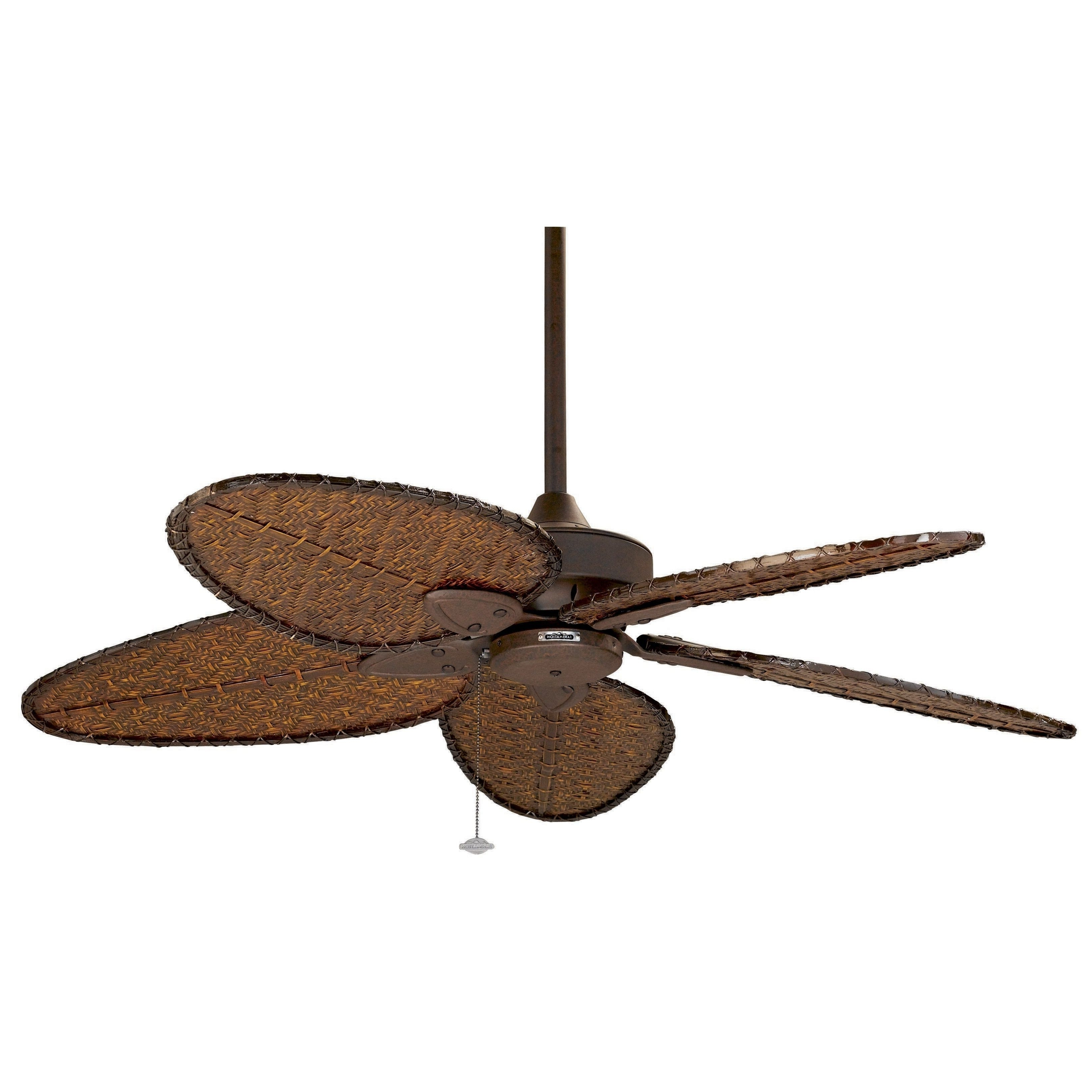 Current Outdoor Ceiling Fans With Bamboo Blades Regarding Fanimation Windpointe 52 Inch Rust With Bamboo (Green) Blades (View 3 of 20)
