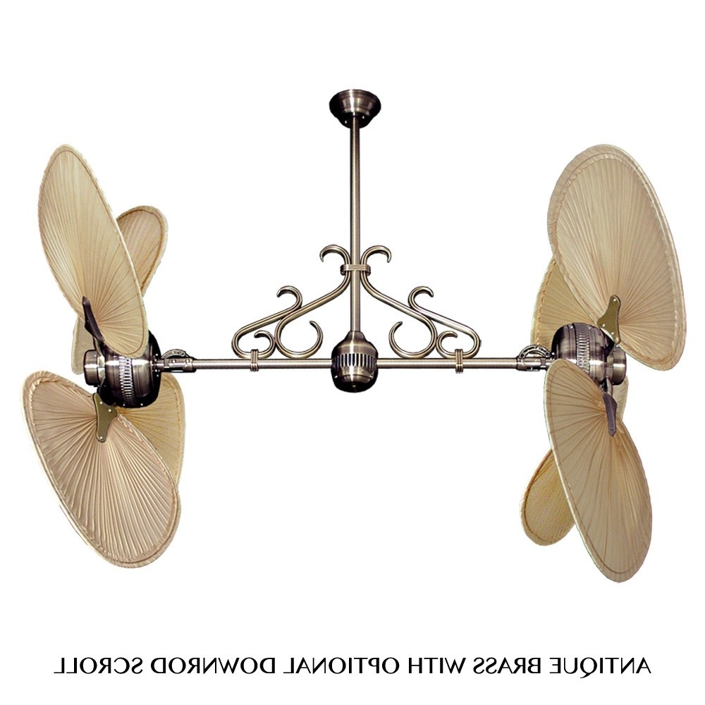 Current Outdoor Ceiling Fans With Palm Blades Pertaining To Tropical Ceiling Fans With Palm Leaf Blades, Bamboo, Rattan And More (Gallery 12 of 20)
