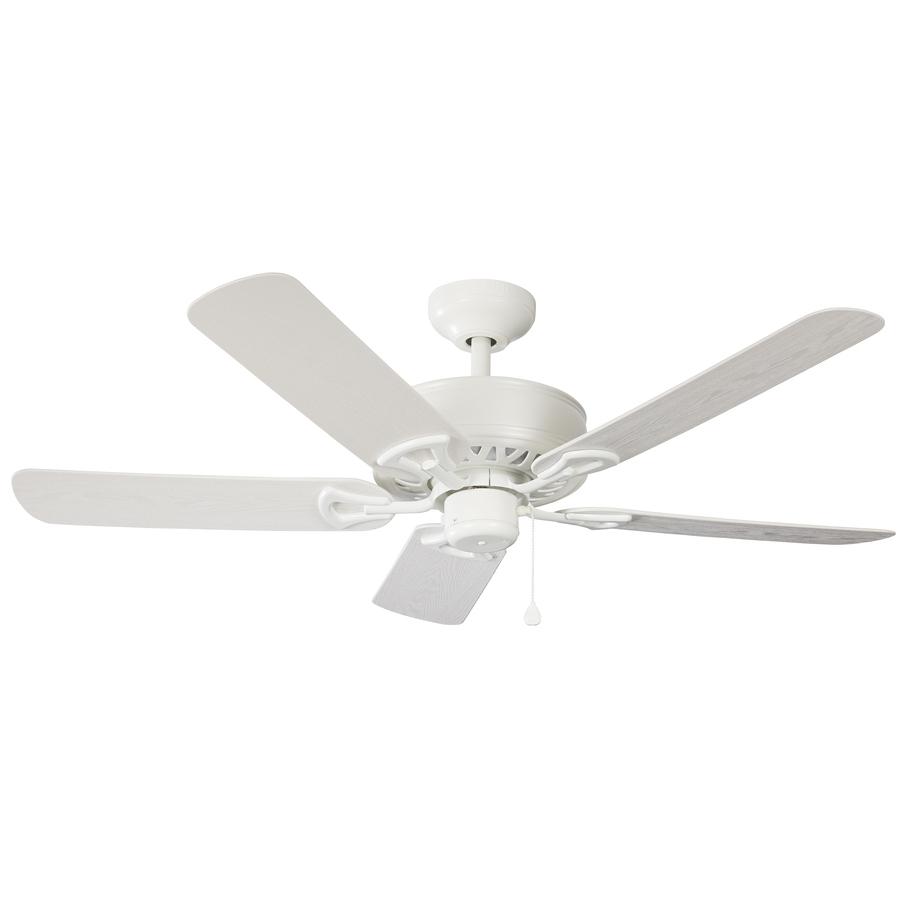 Current Shop Harbor Breeze Calera 52 In White Indoor/outdoor Downrod Mount Within Harbor Breeze Outdoor Ceiling Fans (View 4 of 20)