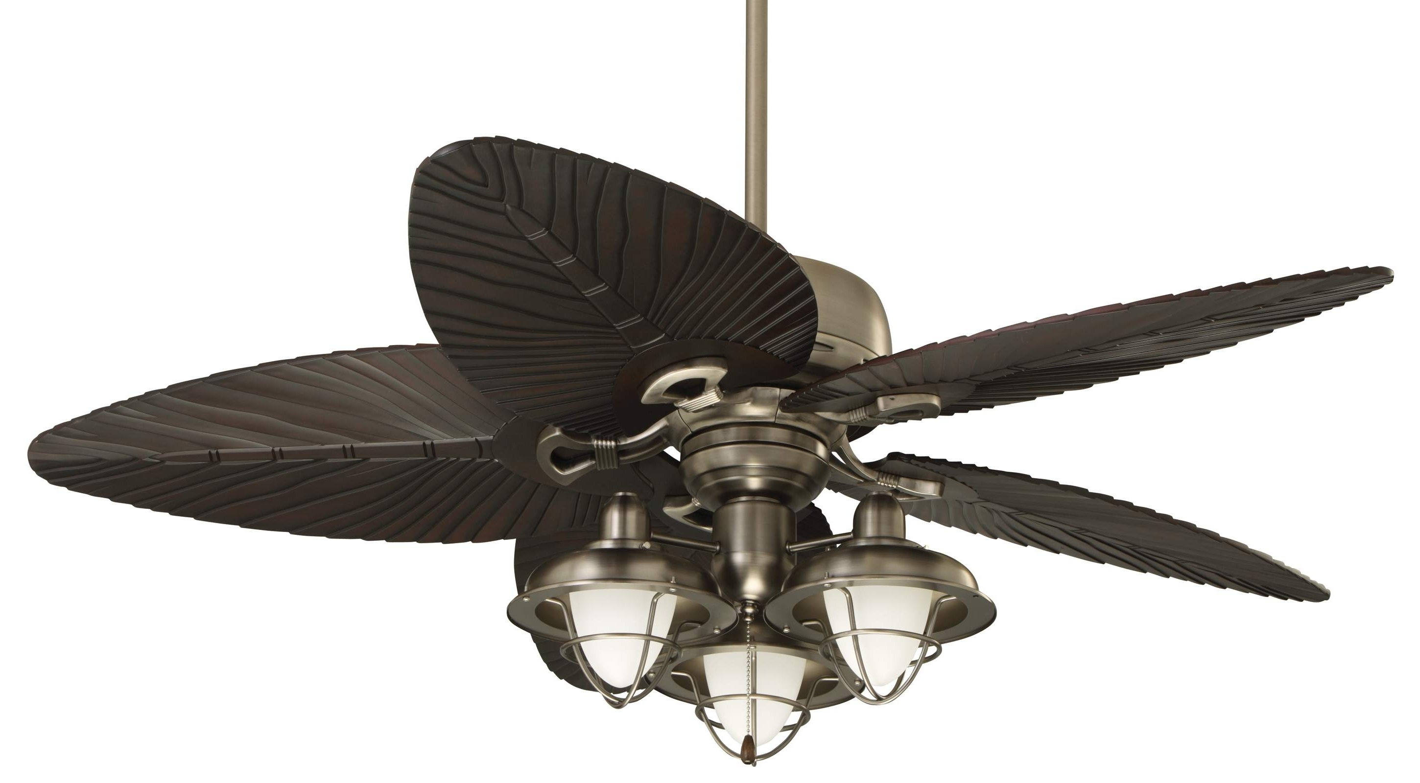 Decor: Bring An Island Look Into Your Home With Cool Ceiling Fan Throughout Well Known Outdoor Ceiling Fans With Palm Blades (View 6 of 20)