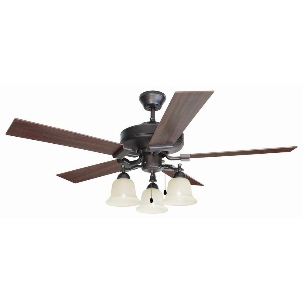 Design House Ironwood 52 In. Brushed Bronze Ceiling Fan 154112 – The Intended For Well Known Outdoor Ceiling Fans At Amazon (Gallery 10 of 20)